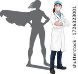 a female doctor super hero... | Shutterstock .eps vector #1726323001