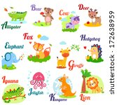 Cute Animal Alphabet For Abc...