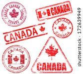 canada  different shaped rubber ... | Shutterstock .eps vector #172639949