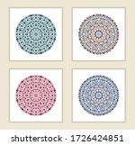 set of mandala ornament. arabic ... | Shutterstock .eps vector #1726424851