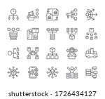 set of distribution related... | Shutterstock .eps vector #1726434127