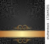 black and gold background with... | Shutterstock .eps vector #172644251