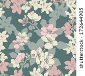 decorative floral seamless... | Shutterstock .eps vector #172644905