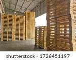 Wooden Pallets Stack At The...