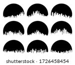set of round black emblems of... | Shutterstock .eps vector #1726458454