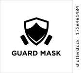 shield mask logo design vector   Shutterstock .eps vector #1726461484