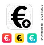 euro exchange rate up icon....