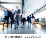 people rushing in the lobby.... | Shutterstock . vector #172647104