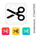 scissors icon. vector...