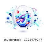 stock vector isolated abstract...   Shutterstock .eps vector #1726479247