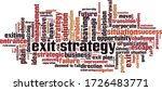 exit strategy word cloud... | Shutterstock .eps vector #1726483771