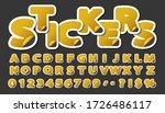 alphabet set of symbols in the... | Shutterstock .eps vector #1726486117