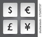 dollar  yen  euro  pound icons...