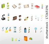 big icon collection  for more... | Shutterstock .eps vector #17265196