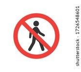 no entry sign  no entry ... | Shutterstock .eps vector #1726548601