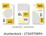 food menu banner social media... | Shutterstock .eps vector #1726570894