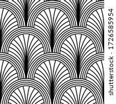 art deco pattern. vector black... | Shutterstock .eps vector #1726585954