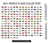 world flag collection with... | Shutterstock .eps vector #1726594297
