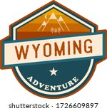 vintage wyoming illustration... | Shutterstock .eps vector #1726609897