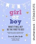 boy or girl  gender reveal...   Shutterstock .eps vector #1726614151