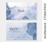 classic blue watercolor fluid... | Shutterstock .eps vector #1726615414