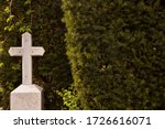 White Cross In The Cemetery