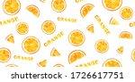seamless pattern of slice... | Shutterstock . vector #1726617751