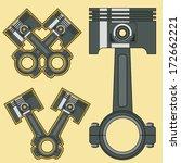 car engine piston. vector... | Shutterstock .eps vector #172662221