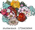 colorful siamese fighting fish... | Shutterstock .eps vector #1726626064