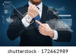 time  business and new... | Shutterstock . vector #172662989