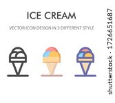 ice cream icon pack isolated on ...