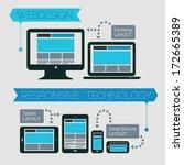 flat style responsive webdesign ... | Shutterstock .eps vector #172665389