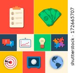 business flat icon concept.... | Shutterstock .eps vector #172665707