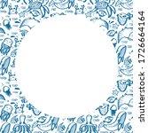 world oceans day frame with... | Shutterstock .eps vector #1726664164