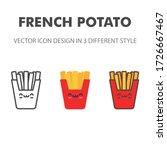 french potato icon. kawai and...