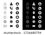 contact details icons for... | Shutterstock .eps vector #1726680754