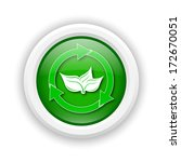 round plastic icon with green... | Shutterstock . vector #172670051