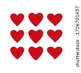 love vector icon. isolated... | Shutterstock .eps vector #1726701457