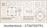 beautiful vintage frame... | Shutterstock .eps vector #1726703791