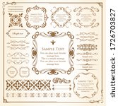 beautiful vintage frame... | Shutterstock .eps vector #1726703827