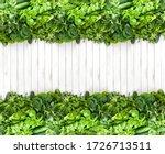 Fresh Fragrant Green Herbs On A ...