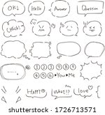simple flame  chat bubbles...   Shutterstock .eps vector #1726713571