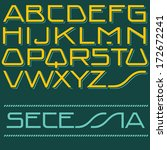 vector alphabet type. secession ... | Shutterstock .eps vector #172672241