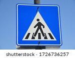 pedestrian crossing. isolated...   Shutterstock . vector #1726736257