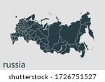russia map vector  abstract... | Shutterstock .eps vector #1726751527