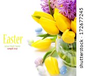 easter composition with... | Shutterstock . vector #172677245