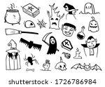 variety of halloween cartoons... | Shutterstock .eps vector #1726786984