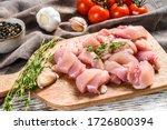 Raw Chicken Meat Fillet Cut...