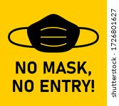 no face mask  no entry...   Shutterstock .eps vector #1726801627