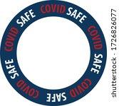 covid safe vector illustration... | Shutterstock .eps vector #1726826077